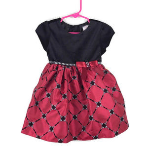Youngland Baby | Girls Velvet Party Dress 24 Month